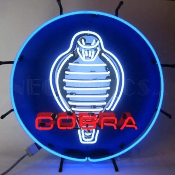 COBRA NEON SIGN WITH BACKING- 5COBRB | moneymachines.com