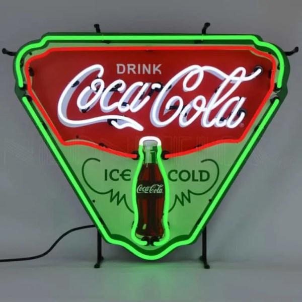 COCA-COLA ICE COLD SHIELD NEON SIGN – 5CCICE | moneymachines.com