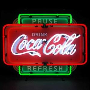 COCA-COLA PAUSE REFRESH NEON SIGN – 5CCPRF | moneymachines.com
