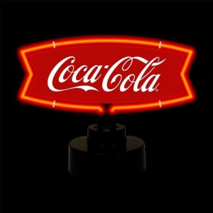COCA-COLA RED AND WHITE FISHTAIL NEON SCULPTURE – 4CCRWF | moneymachines.com