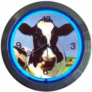 COW NEON CLOCK – 8COWXX | moneymachines.com