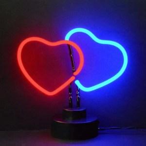 DOUBLE HEART NEON SCULPUTRE – 4HEART | moneymachines.com