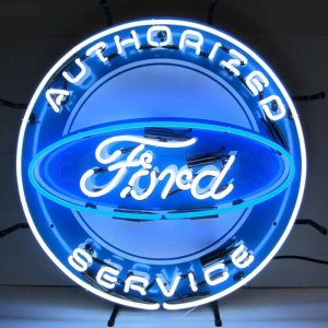 FORD AUTHORIZED SERVICE NEON SIGN WITH BACKING – 5FRDBK | moneymachines.com