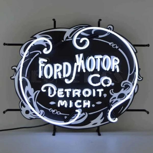 FORD MOTOR COMPANY 1903 HERITAGE EMBLEM NEON SIGN – 5FRDMC | moneymachines.com