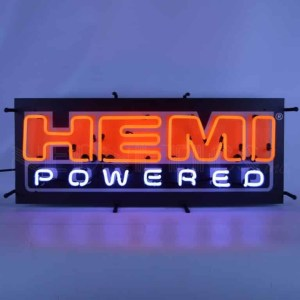 HEMI POWERED NEON SIGN WITH BACKING- 5HEMBK | moneymachines.com