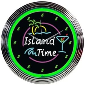 ISLAND TIME NEON CLOCK – 8ITIME | moneymachines.com