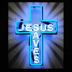 JESUS SAVES NEON SIGN – 5JSAVES | moneymachines.com