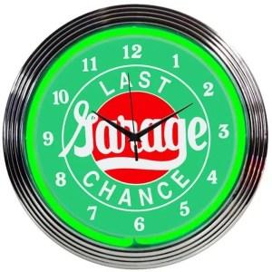 LAST CHANCE GARAGE NEON CLOCK – 8LASTX | moneymachines.com