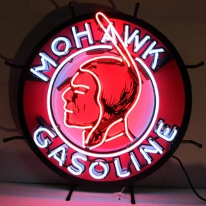 MOHAWK GASOLINE NEON SIGN – 5GSMOH | moneymachines.com