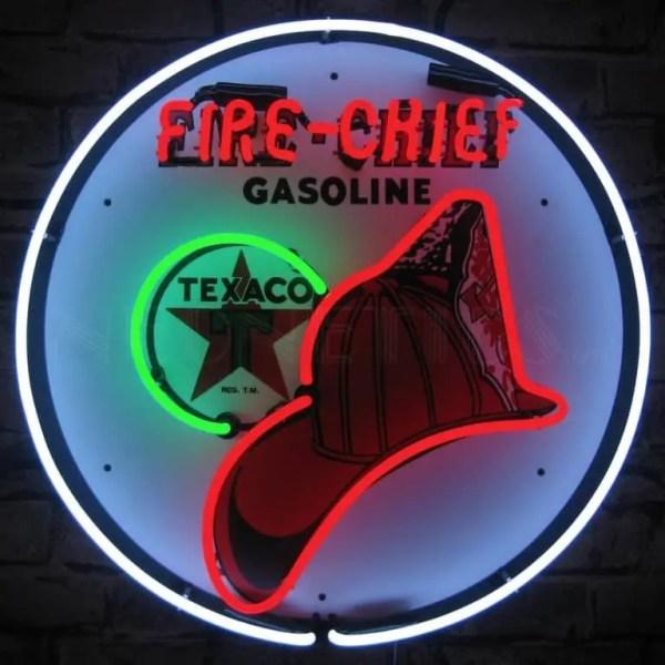 TEXACO FIRE CHIEF NEON SIGN – 5TXFIR | moneymachines.com