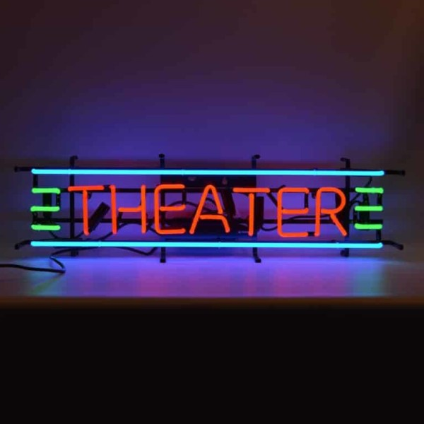 THEATER RED, GREEN AND BLUE NEON SIGN – 5THESM | moneymachines.com