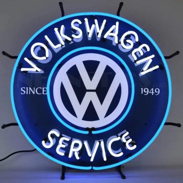 VOLKSWAGEN SERVICE NEON SIGN – 5VWSRV | moneymachines.com