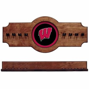 Wisconsin 2-Piece Cue Rack Pecan | Moneymachines.com