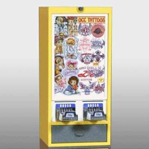 Impulse 2 Column Sticker Tattoo Vending Machine | moneymachines.com