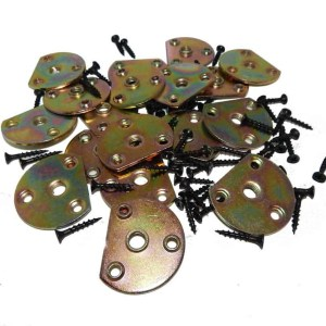 Set of 18 Pool Table Rail Mounting Plates | moneymachines.com