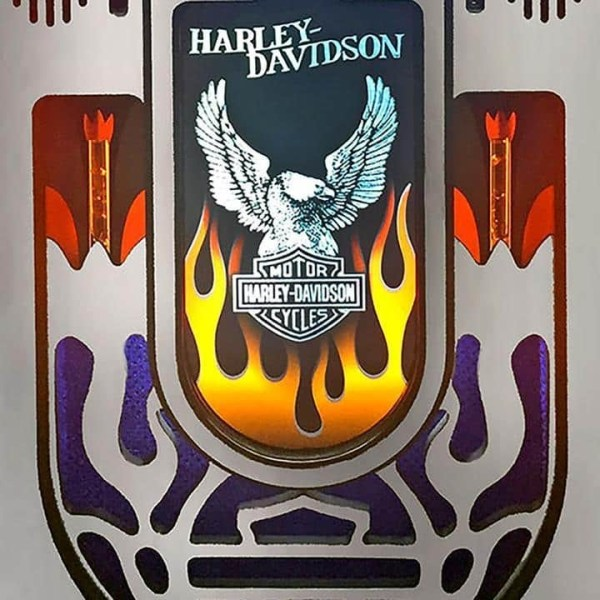 Brushed Aluminum Harley Davidson Jukebox Grill | moneymachines.com