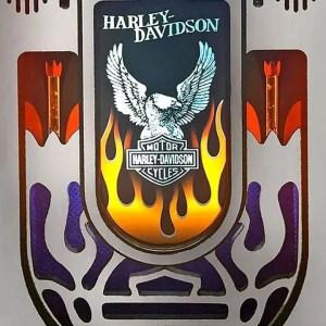 Brushed Aluminum Harley Davidson Jukebox Grill | moneymachines.com