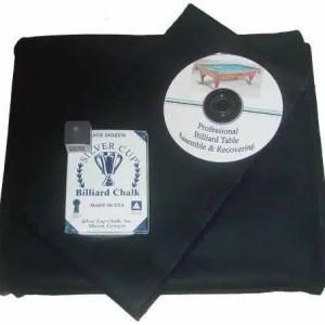 Proline Classic 303 Precut Black Color Billiard Cloth Re-felting Kit   moneymachines.com