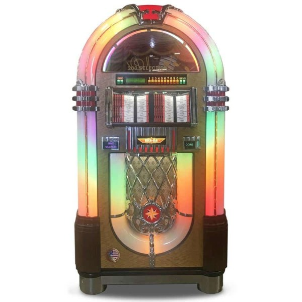 Rock-Ola Bubbler 45 RPM Vinyl Jukebox Walnut Finish | moneymachines.com