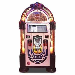 Rock-Ola Bubbler Harley-Davidson CD Jukebox Brushed Aluminum | moneymachines.com