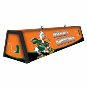 "Miami Hurricanes College 44"" Victory Game Table Lamp | moneymachines.com"