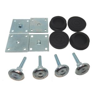 """2"""" Leg Levelers, Heavy Duty Base Plate & Rubber Boot Castors for Arcade Game Cabinets   moneymachines.com"""