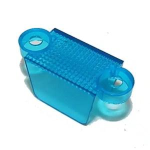 "1-1/4"" Translucent Blue Double Sided Pinball Machine Lane Apron Guide | moneymachines.com"
