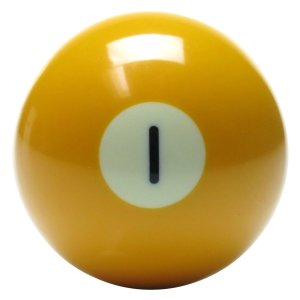 New Individual Number One (1) Billiard Pool Ball | moneymachines.com