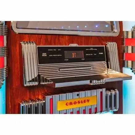 Crosley CR1215A-WA Jukebox Panel Open | moneymachines.com