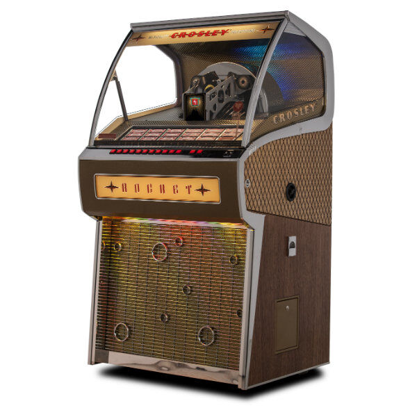 Crosley CR1210A-OA Rocket 45 Vinyl Jukebox | moneymachines.com