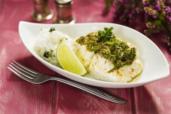 Fish with pesto