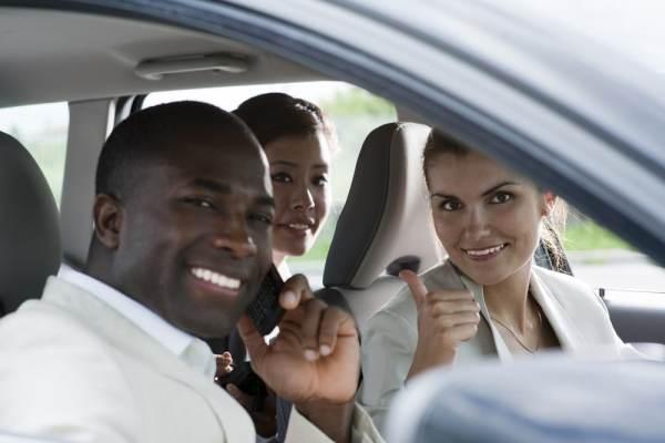 Group carpooling to work