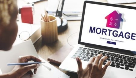 Mortgage website on a laptop