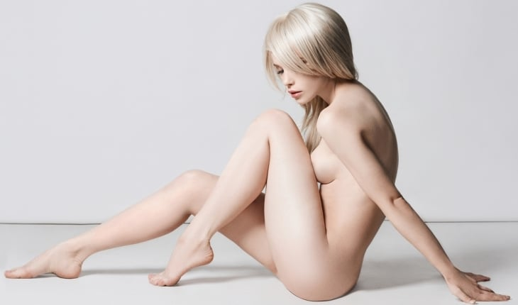 Nude life model