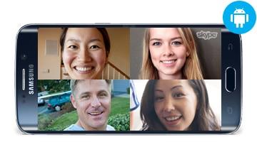 Skype call graphic