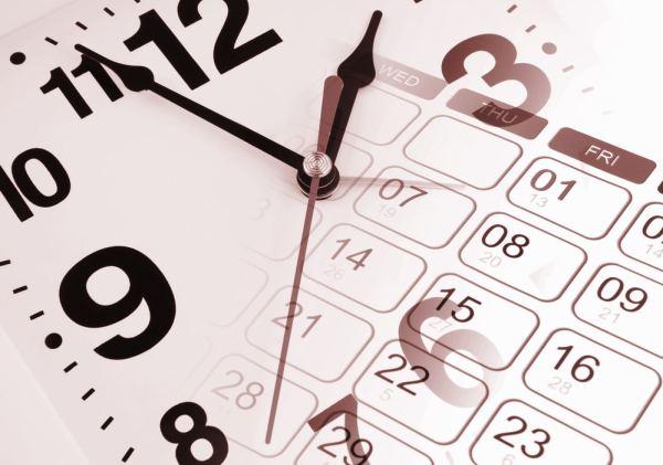 Clock and calendar concept