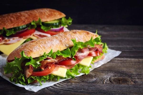 2 sub sandwiches