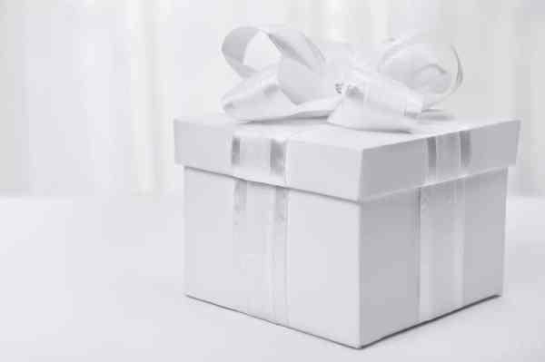 White wedding gift