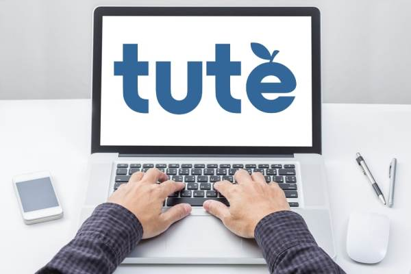 Tute Logo on laptop