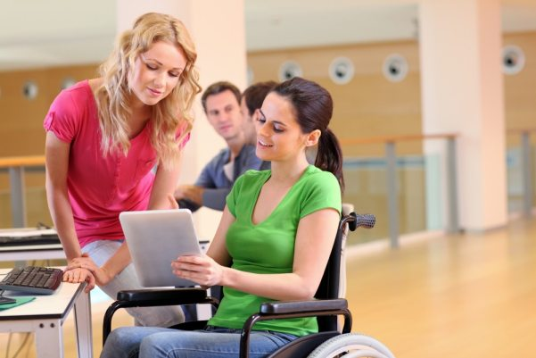 Disabled student in wheelchair