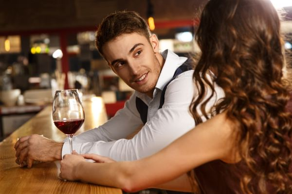 Man listening to date intently