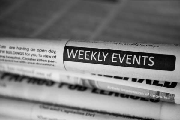 Newspaper events section
