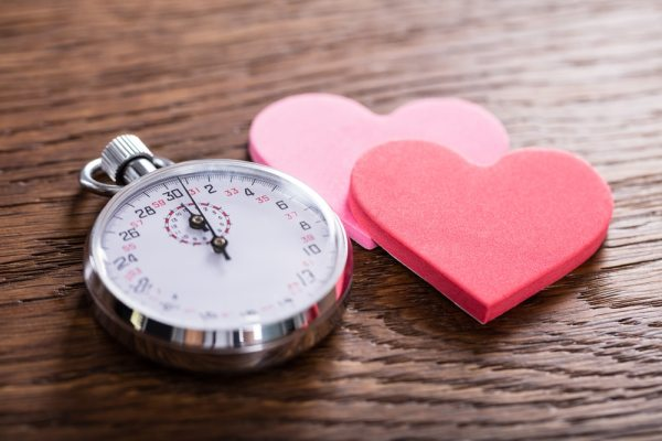 Stopwatch and hearts