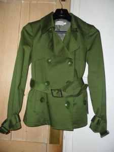 olive green satin-ey jacket