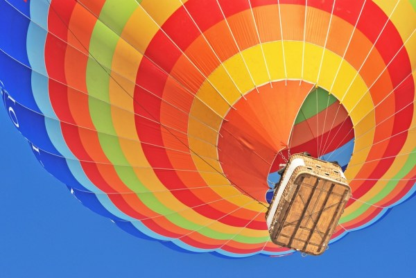 Hot air balloon from below