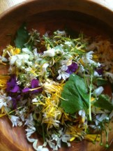 edible flowers - photo: Sarah Lockett - You'll never buy salad again