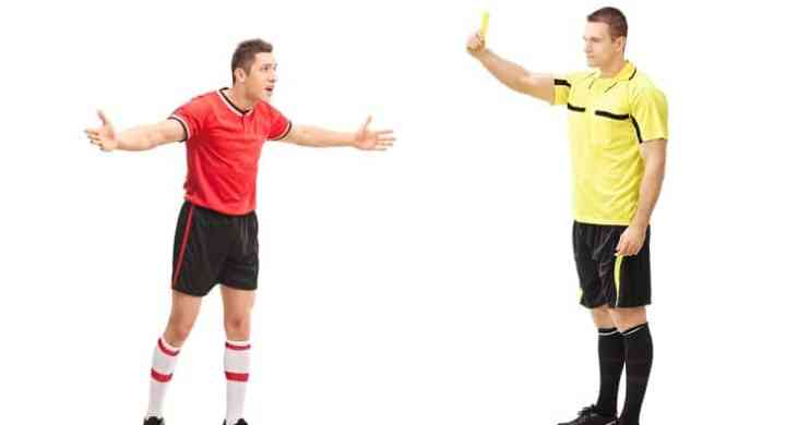football referee yellow card