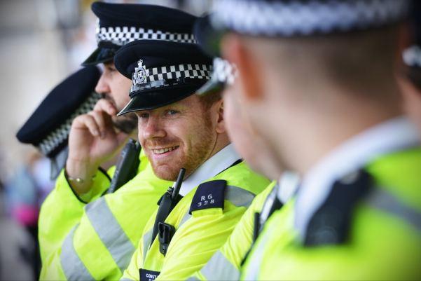 Men in police uniform