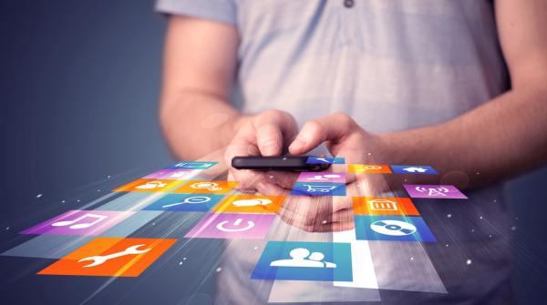 Image de concept d'applications mobiles