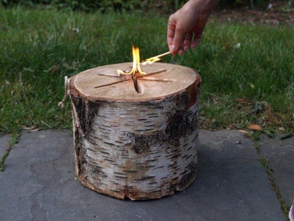 Light-n-go bonfire log